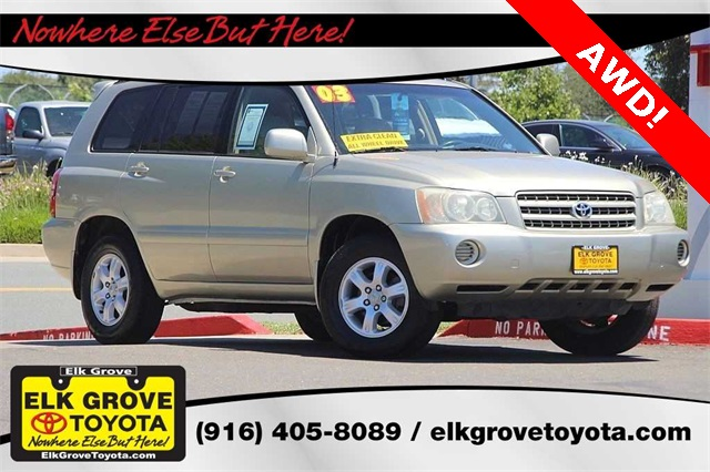 pre owned 2003 toyota highlander v6 4d sport utility in elk grove